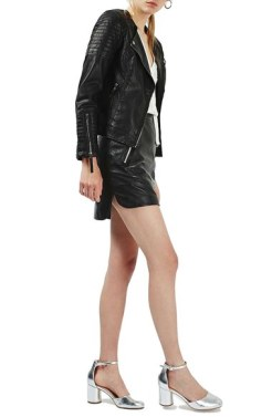 Topshop- Nelly Faux Leather Biker Jacket